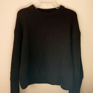 NWT Topshop Black Chunky Knit Sweater